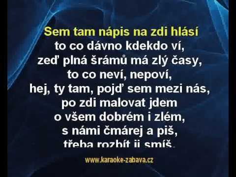Zeď - Václav Neckář Karaoke tip