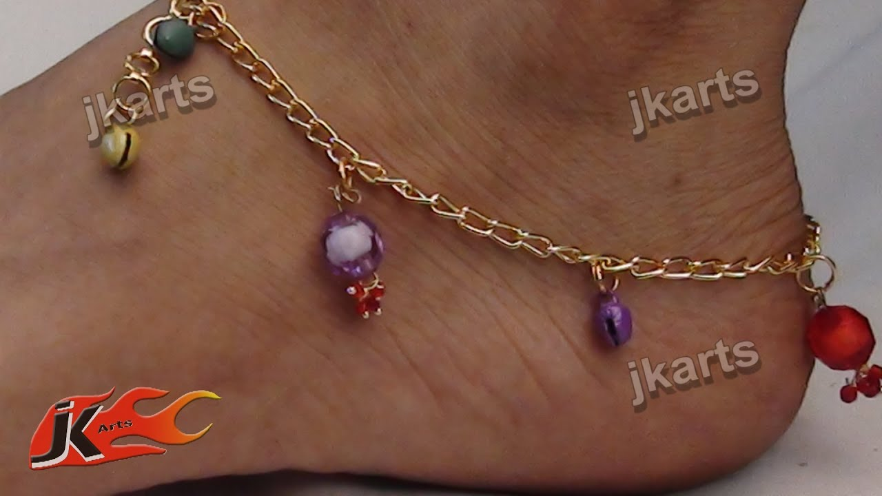 on jewelry anklet fashion hot real in plated pendant heart for making girl bell gold accessories from color cute anklets item ankle korean bracelet