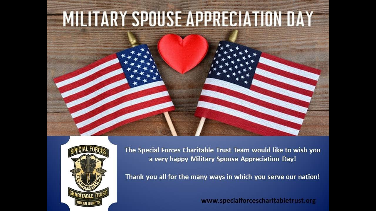 Military Spouse Appreciation Day!