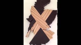 Scotland Shape Made From Wenge And Ash Wood