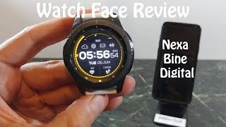 Watch Face Review : Nexa Bine Digital Gear S2 Gear S3 Gear Sport
