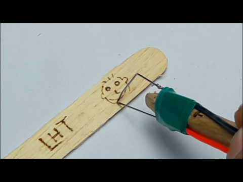 Homemade Easy Pyrography Pen DIY (Wood Burning Hot Pen)