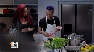 Lerato Kganyago Devours Somizi's Seafood Salad – Dinner At Somizi's | 1 Magic