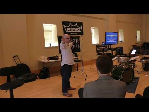 "2017 Emory Percussion Symposium Clinic - Jonathan Ovalle (""Motion Studies for Snare Drum"")"
