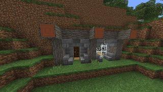 如何建造山洞屋?//Minecraft PE 建筑教学 #6