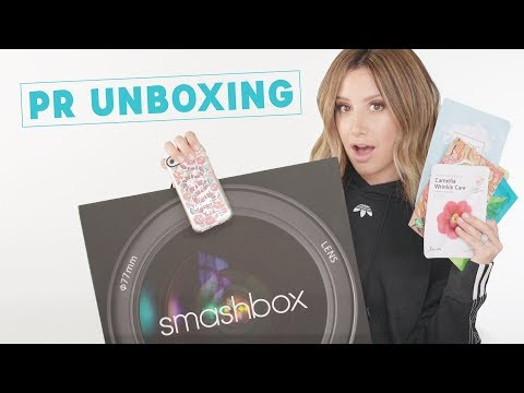 Unboxing PR Packages  Giveaway  Ashley Tisdale