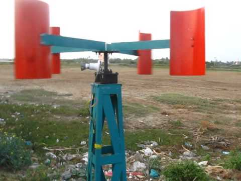 MECHANICAL ENGINEERING PROJECT VERTICAL AXIS WINDMILL POWER GENERATION