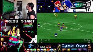 Gameplay Fifa Soccer 96 do Super Nes - Arcade Hercules Games - Recalbox