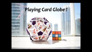 Quirky Art- Playing Cards Globe