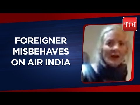 Watch Video: Foreigner abuses Air India flight attendants