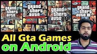 All Gta games on android || Gta 3,Gta san andreas,Gta 4,Gta vice city on android || AlirazaTV