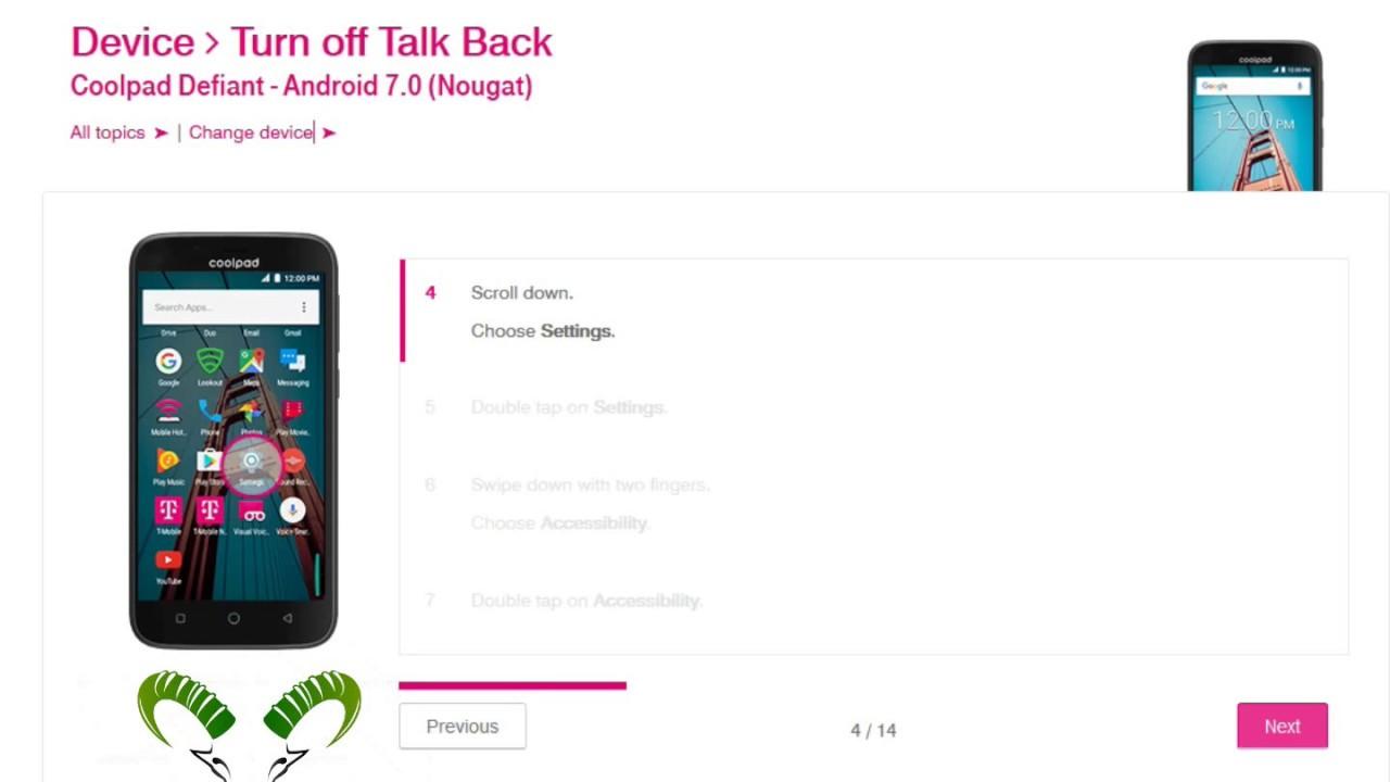 ☑️ How to turn off Talkback on Coolpad Defiant