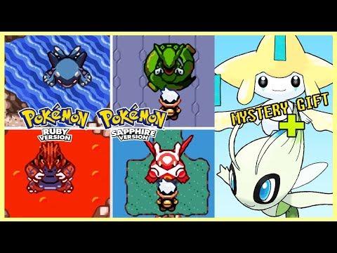Pokemon Ruby & Sapphire - All Legendary Pokemon Locations + Jirachi & Celebi (Mystery Gifts)