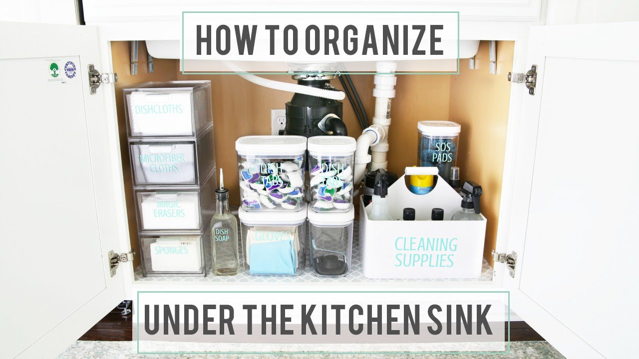 How to Organize Under the Kitchen Sink - YouTube