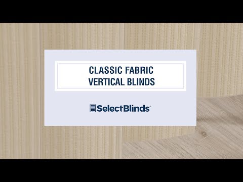 Classic Fabric Vertical Blinds from SelectBlinds.com
