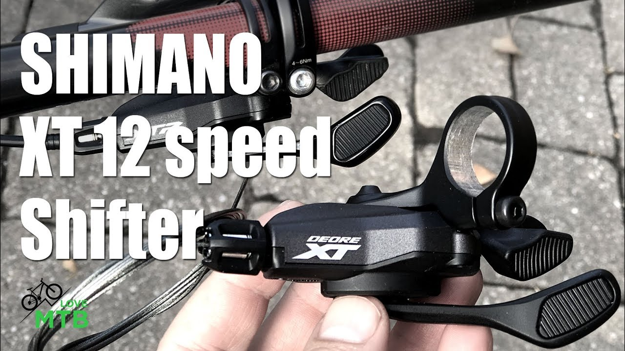 Shimano Deore XT SL-M8100 Right Shifter 12 Speed Trigger Mtb Bicycle Clamp Band