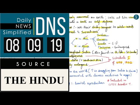 Daily News Simplified 08-09-19 (The Hindu Newspaper - Current Affairs - Analysis for UPSC/IAS Exam)