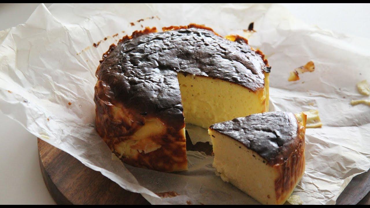 에어프라이어 바스크치즈케이크 만들기, 에어프라이어 베이킹, 노저울 AirFryer Basque Burnt Cheesecake : ceramicdo 세라믹도