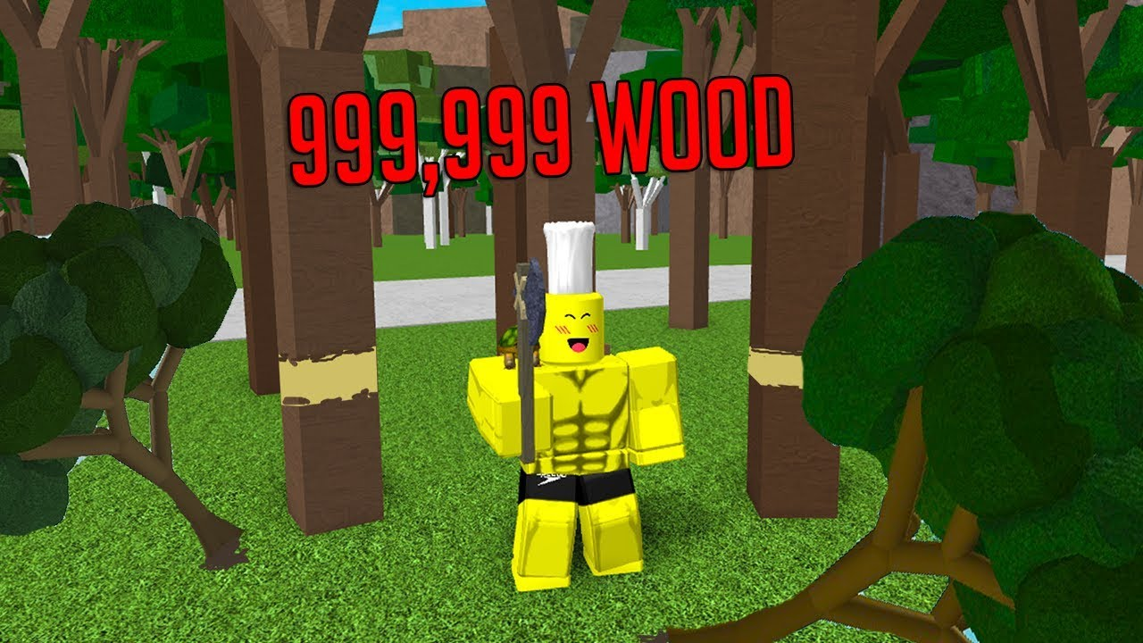 ROBLOX WOODCUTTING SIMULATOR *DESTROYING THE ENVIRONMENT*