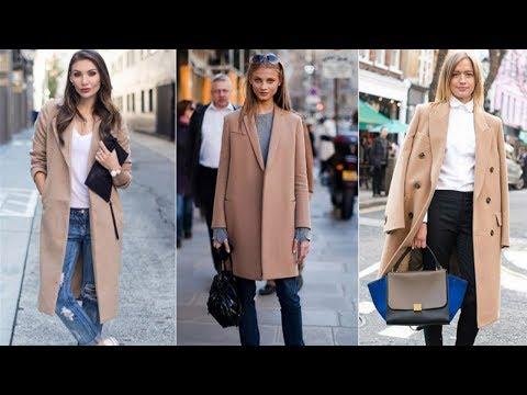 C чем и как носить бежевое длинное пальто