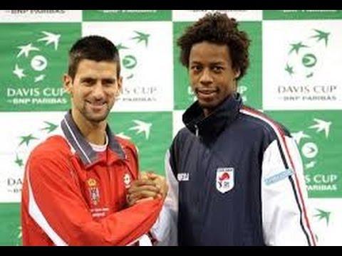 Novak Djokovic Vs Gael Monfils Us Open Amazing Match Youtube