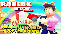 The NEW NINJA MONKEY UPDATE in Adopt Me! (Roblox)