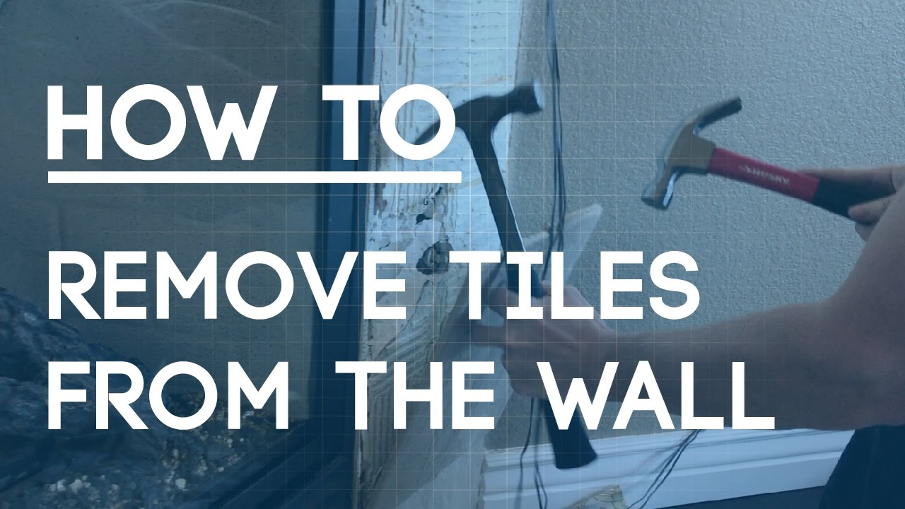 How to Remove Tile From A Wall - YouTube