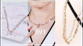 진주목걸이 만들기 pearl necklace DIY 셀…