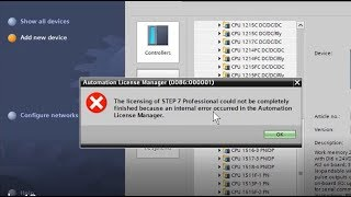 How to fix the Automation License Manager error in TIA Portal V13 WinDows 8 10