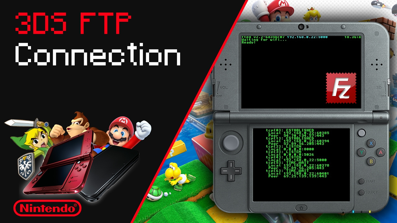 How To Establish FTP Connection On 3DS/2DS