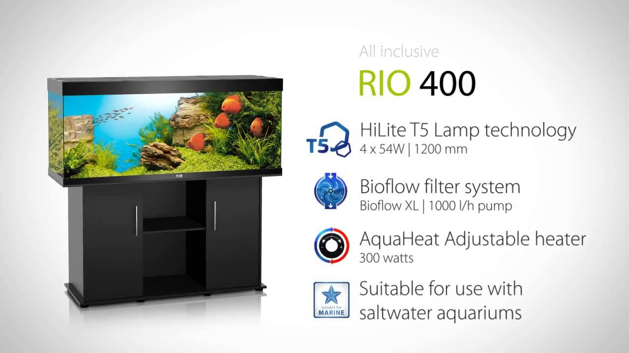 Juwel Aquarium Rio 400 - YouTube