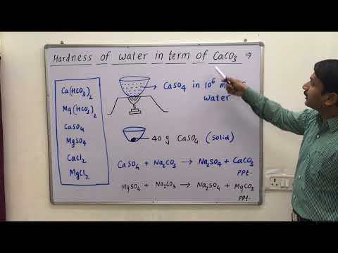 Degree Of Hardness Of Water In Term Of Calcium Carbonate