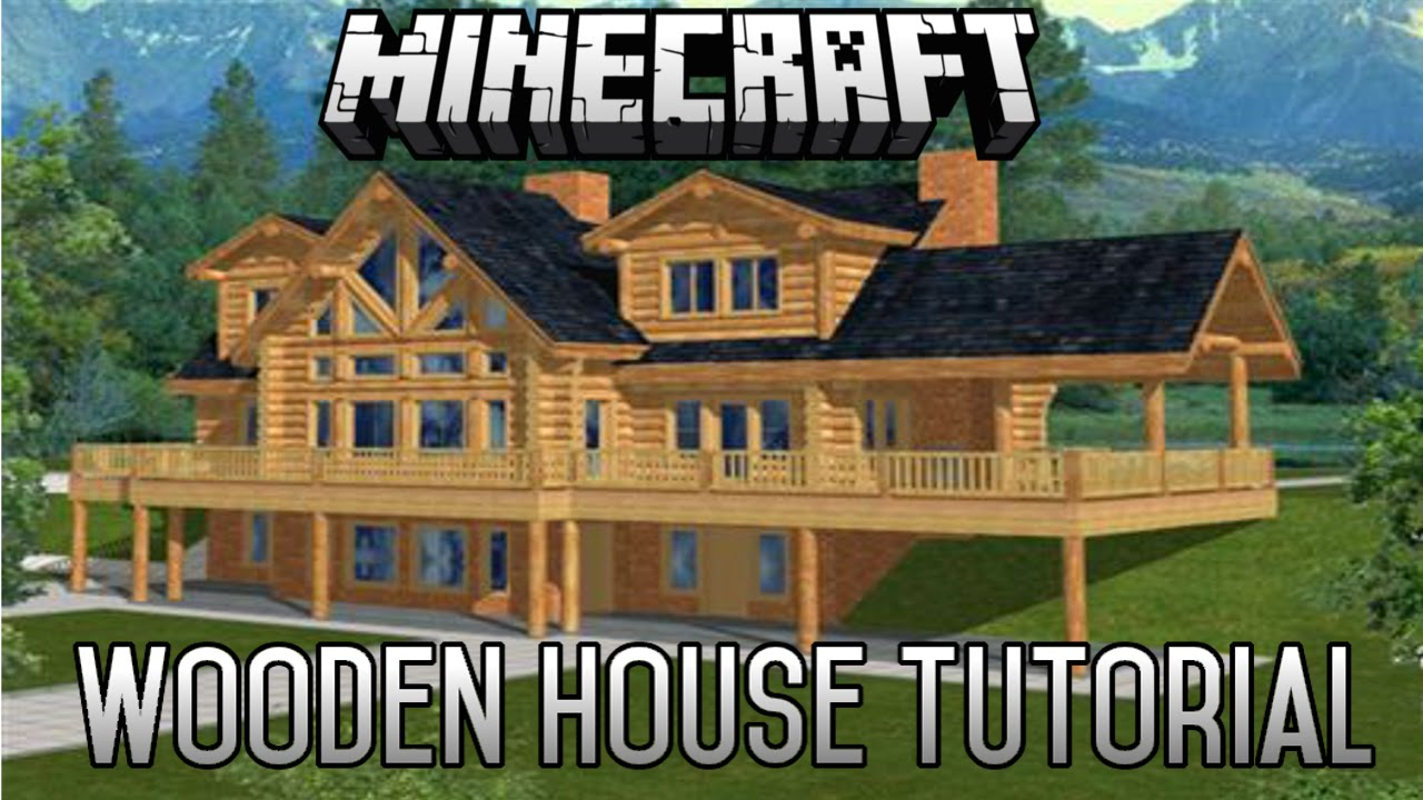 Minecraft epic wooden house tutorial part 6 1 8 1 youtube for Modern house 6 part 8