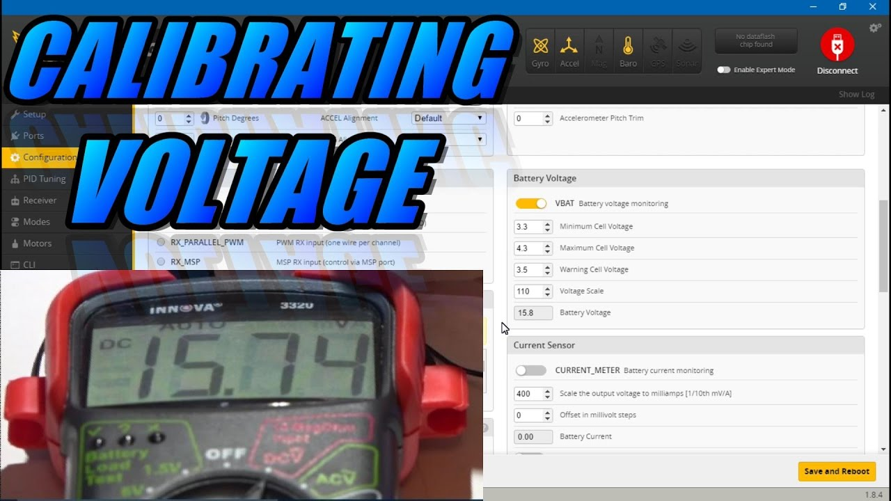 Calibrating Voltage In Betaflight Cleanflight Youtube Precision Receiver Battery Low Alarm
