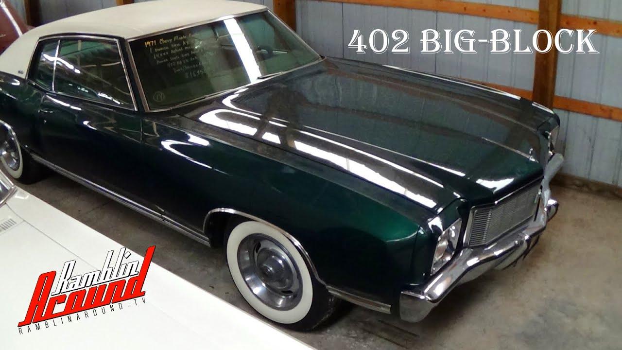 Chevy Monte Carlo 2015 >> 1971 Chevrolet Monte Carlo 402 Big-block V8 64,xxx ...