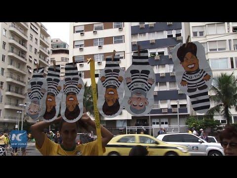 Millions protest against gov't in Brazil