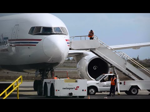 [HD] Amazing Amerijet International Boeing 767-200F Pushback & departure from Curacao