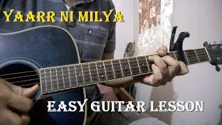 Yaarr ni milyaa - हारादी संधू |  easy guitar chords & intro lesson