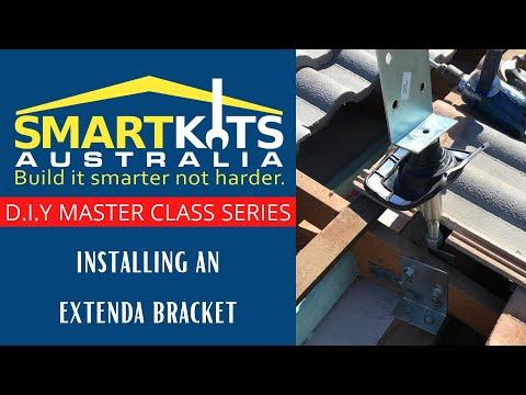Installing Extenda Brackets DIY PATIO CARPORT AND FLYOVER ROOF KITS