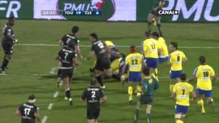 Tries in France 2010 2011 semi final Toulouse Clermont