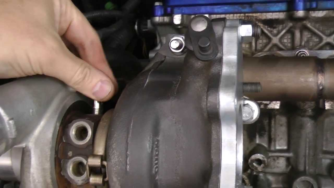How To Make A Custom Turbo Oil Return Line Diy Youtube