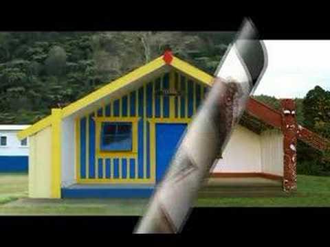 Homes of the Maori people - Ngai Tuhoe - New Zealand