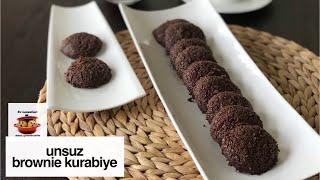 Unsuz, brownie tadında çikolatalı fındıklı kurabiye tarifi