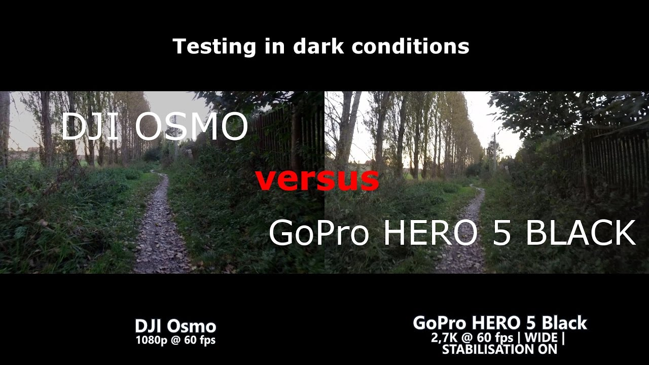 At Twilight DJI OSMO Versus GOPRO HERO5 BLACK Comparison Side By In 27K