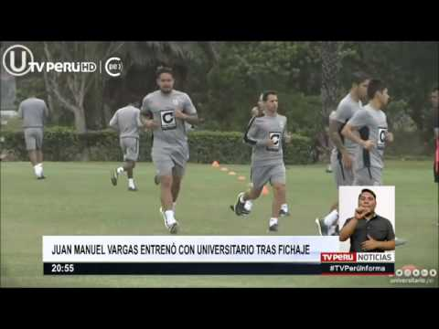 Juan Vargas fichó por Universitario y ya entrena con los cremas