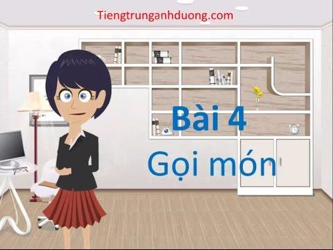 Học tiếng Trung giao tiếp: Cách gọi món ăn trong nhà hàng