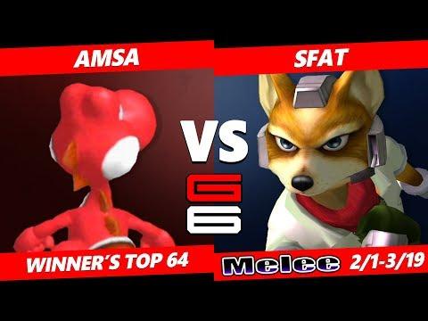 Genesis 6 SSBM - RB VGBC | aMSa (Yoshi) VS CLG | SFAT (Fox) Smash Melee Winner's Top 64