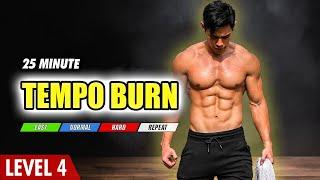 Home Workout   Progressive Tempo Fat Burning (Level 4)