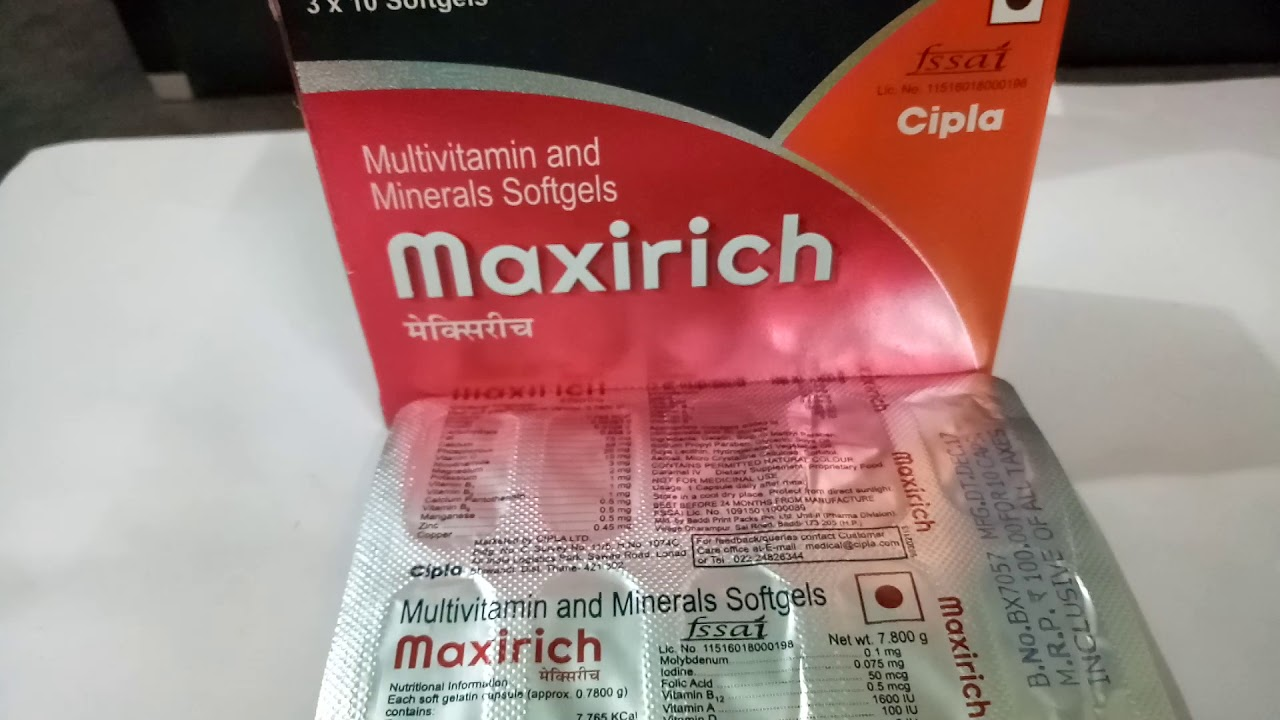 Maxirich Capsule Full Review Youtube