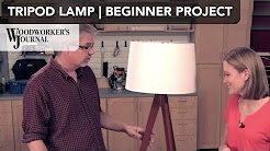 Tripod Floor Lamp Project | Beginner Woodworking Project